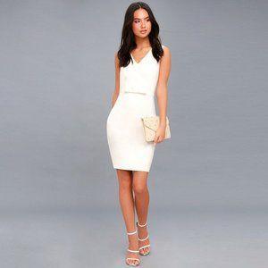Be My Bow White Sleeveless Bodycon Dress